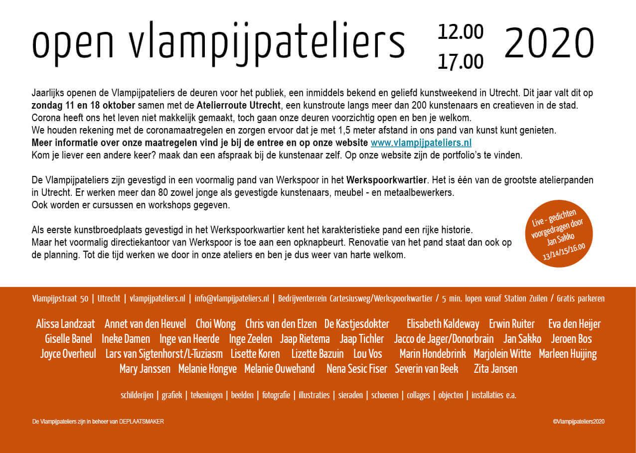 Open Vlampijpateliers 2020 / Atelierroute Utrecht